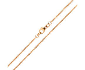 18ct Rose Gold 1.30mm Spiga Chain