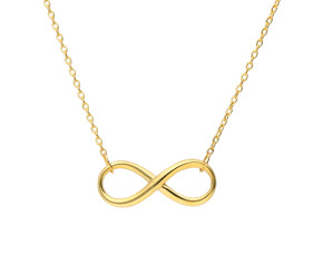 9ct Gold Infinity Necklace