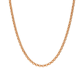 18ct Rose Gold 2.25mm Baby Belcher Chain