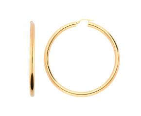 9ct Yellow Gold 58mm Tube Hoop Earrings