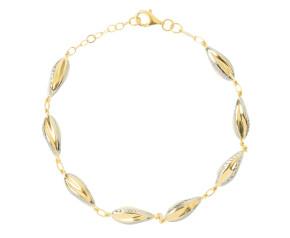 9ct Yellow & White Gold Fancy Bracelet