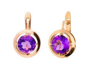 Handcrafted Italian 2.60ct Amethyst Earrings