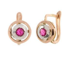 Handcrafted Italian Ruby Earrings