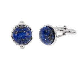 Sterling Silver Lapis Lazuli Bar Cufflinks