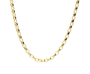 18ct Yellow Gold 2.35mm Maxibel Filed Belcher Chain Necklace