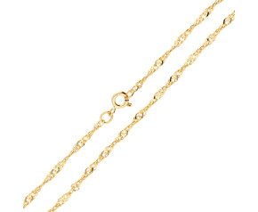 9ct Yellow Gold 2.40mm Twisted Curb Chain