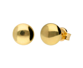 9ct Yellow Gold Button Studs