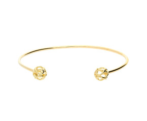 9ct Yellow Gold Infinity Bangle