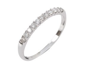 9ct White Gold 0.25ct Diamond Eternity Ring