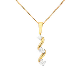 9ct Yellow Gold 0.15ct Diamond Pendant