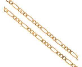 Pre-owned 9ct Gold Figaro Chain Necklace