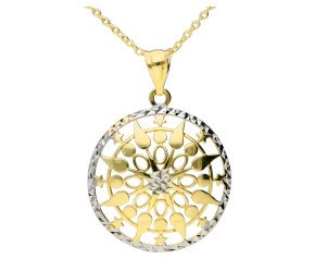 9ct Yellow & White Gold Fancy Pendant