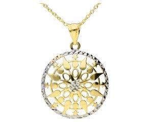 9ct Yellow & White Gold Fancy Pendant