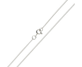 9ct White Gold 1.28mm Curb Chain