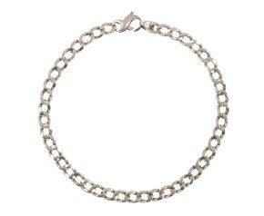 Pre-Worn Platinum Curb Chain Bracelet