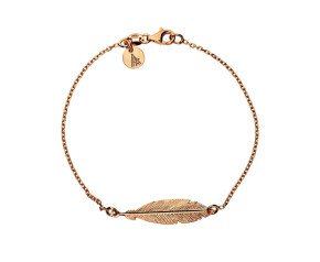 Sterling Silver & Rose Gold Plated Feather Bracelet