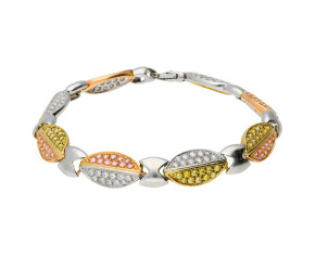Pre-owned Rose, White & Yellow Gold Bracelet