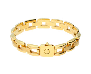 Pre-Owned 18ct Gold Brick Link Bracelet