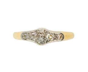Vintage 18ct Yellow Gold 0.20ct Diamond Ring