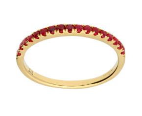 9ct Yellow Gold Ruby Half Eternity Ring