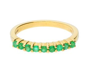 9ct Yellow Gold Emerald Eternity Ring