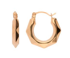 9ct Yellow Gold 10mm Hoop Earrings