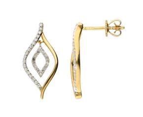 9ct Yellow Gold 0.25ct Diamond Drop Earrings