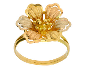 Pre-owned Italian Floral Ring