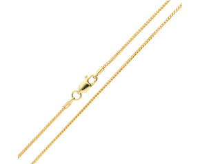 9ct Yellow Gold 1.10mm Filed Franco Chain
