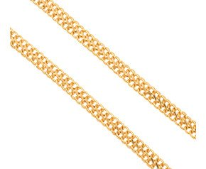 Pre-owned 9ct Gold Figure Of Eight 8mm Curb Chain Necklace