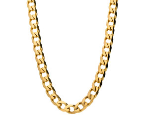 Pre-owned 9ct Yellow Gold 6.55mm Filed Curb Chain