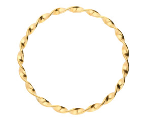 Pre-owned Gold Twisted Design Bangle