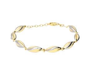 9ct Yellow & White Gold Fancy Bracelet