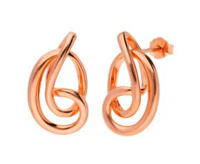 Sterling Silver & 18ct Rose Gold Vermeil Serenity Stud Earrings