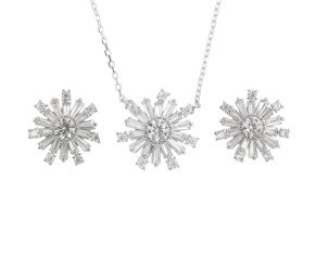 Sterling Silver Earrings & Pendant Set