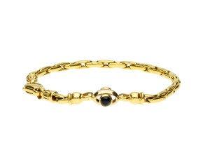Vintage 9ct Yellow Gold Sapphire & Ruby Fancy Bracelet