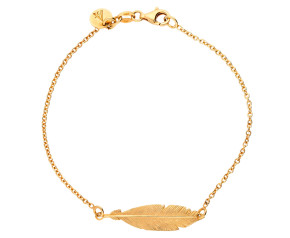 Sterling Silver & Yellow Gold Plated Feather Bracelet