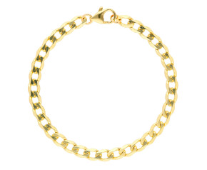 9ct Yellow Gold 5.33mm Metric Curb Chain Bracelet