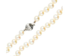 14ct White Gold Freshwater Pearl Necklace