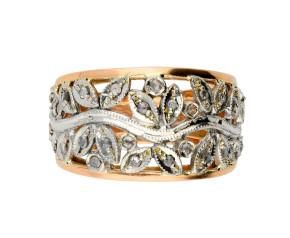 Handcrafted Italian Sapphire & Diamond Fancy Dress Ring