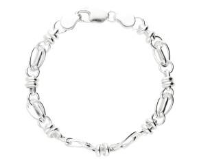 7.8mm Silver Handmade Bracelet