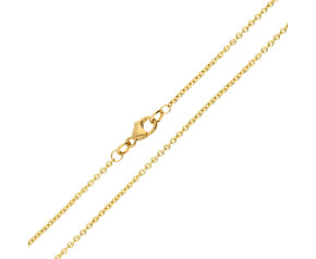 9ct Yellow Gold 1.55mm Tight Link Trace Chain