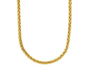 Pre-owned 18ct Yellow Gold 4.2mms Franco chain