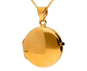 9ct Yellow Gold Round Locket
