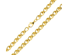 9ct Gold Roller Ball Chain Necklace