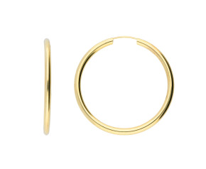 9ct Yellow Gold 30mm Hoop Earrings