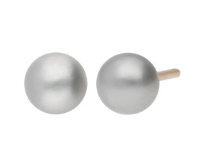 9ct Gold 4mm Freshwater Silver Button Pearl Earrings