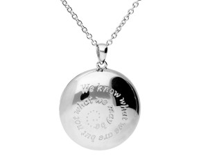 Sterling Silver Shakespeare Round Locket