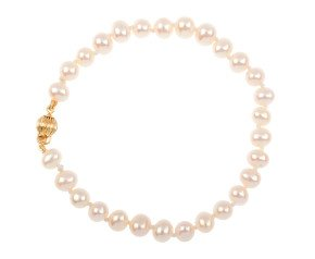 9ct Gold 6mm Freshwater Pearl Bracelet