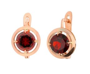 Handcrafted Italian 3.20ct Garnet Earrings